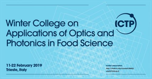 Winter college on applications of optics and photonics in food science