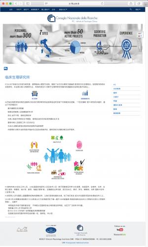 Una delle pagine in Cinese