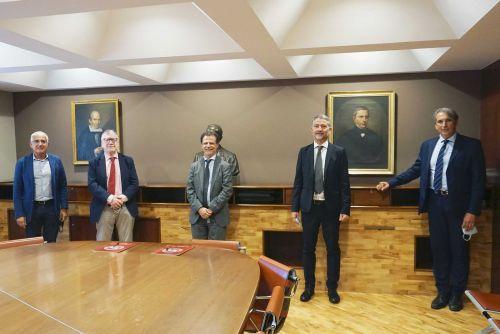Da sinistra: Corrado Tamburino, Massimo Inguscio, Francesco Priolo, Alessandro Padova e Pierfrancesco Veroux
