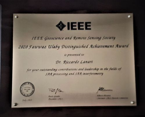IEEE GRSS Fawwaz Ulaby Distinguished Achievement Award 2020