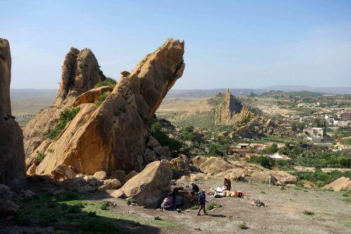 Veduta panoramica del sito neolitico di Doukanet el Khoutifa, Siliana, Tunisia (Credits: Giulio Lucarini Cnr-Ispc)