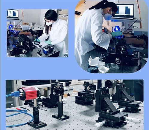 A couple of researchers of Cnr team (Institute of Applied Sciences and Intelligent Systems) during the tests of the new technology in 2020