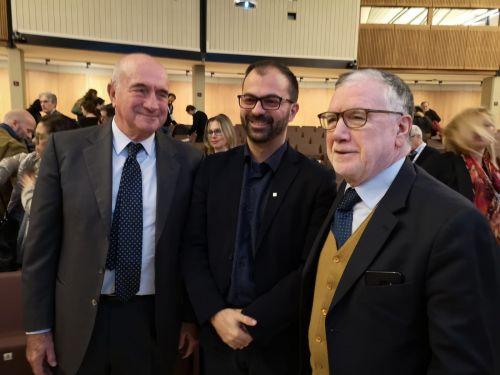 da sinistra: Alberto Tripi, presidente Almaviva; Lorenzo Fioramonti, vice ministro Ministero dell'Istruzione, dell'università e della ricerca; Massimo Inguscio, presidente Cnr