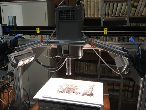 Scanning the papyrus