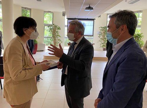 Maria Chiara Carrozza riceve il sigillo di UniSalento