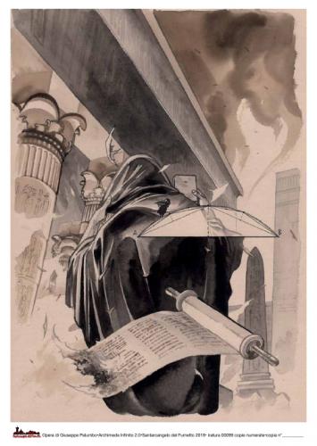 Ltografia di copertina del volume Archimede 2.0, di Giuseppe Palumbo