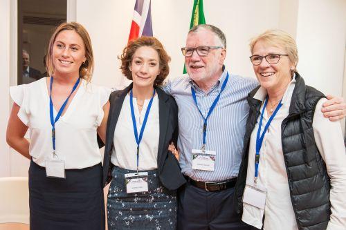 Da sinistra, Jane Costello, Vivianne Stern, Massimo Inguscio, Julie Maxton