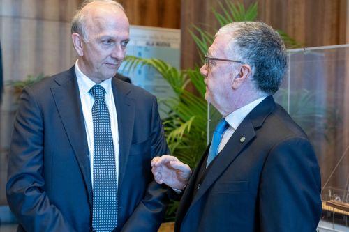 Il ministro dell'Istruzione, dell'Università e della Ricerca Marco Bussetti con il presidente del Cnr Massimo Inguscio