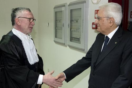 Il presidente del Cnr Massimo Inguscio con il presidente della Repubblica Sergio Mattarella