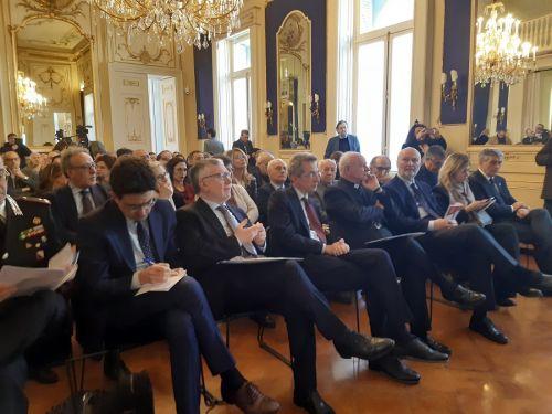 Il presidente del Cnr Inguscio con il ministro Manfredi in Fondazione Salvatore a Napoli il 22 febbraio 2020