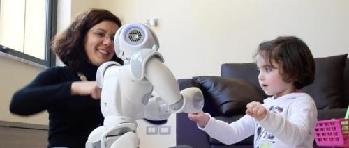 Un social robot in azione