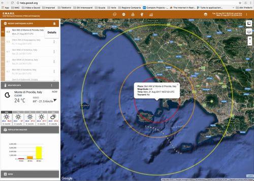 Evento sismico di Ischia del 21 agosto 2017