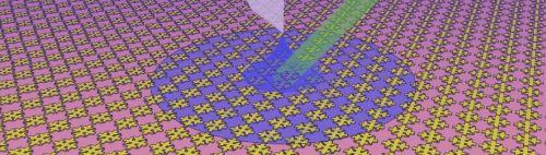 La superficie del metamateriale