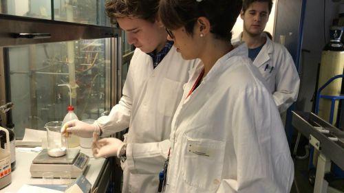 Studenti e studentesse in laboratorio durante l'Alternanza scuola-lavoro