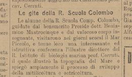 Il trafiletto di 'La voce del popolo' del 12 giugno 1926