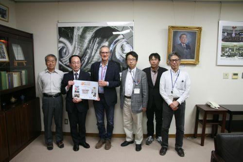 Da destra S.Okamura, Y. Takeiri (direttore generale Nifs), V. Antoni del Cnr-Istp, M. Osakabe, H. Kasahara e K.Tsumori
