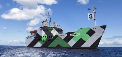 La nave St. Helena di Extreme E e che ospiterà a bordo i progetti di ricerca selezionati per partecipare alla spedizione (photo credit: Extreme E)