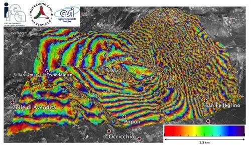 Dettaglio di Norcia elaborato dal satellite Cosmo-SkyMed