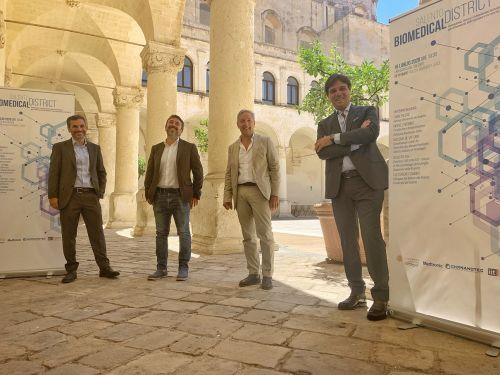 Da sinistra: Giuseppe Gigli, Massimo De Vittorio, Fabio Pollice, Michele Perrino