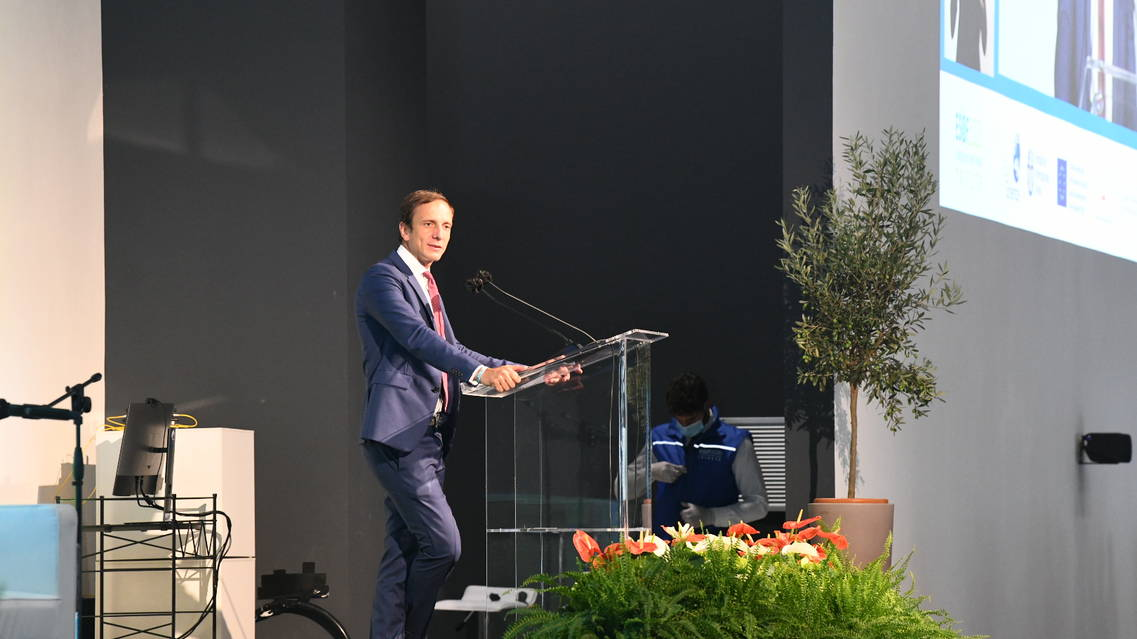 L'intervento del presidente della Regione Friuli Venezia-Giulia Massimiliano Fedriga (credits: Vittorio Tulli, Cnr)