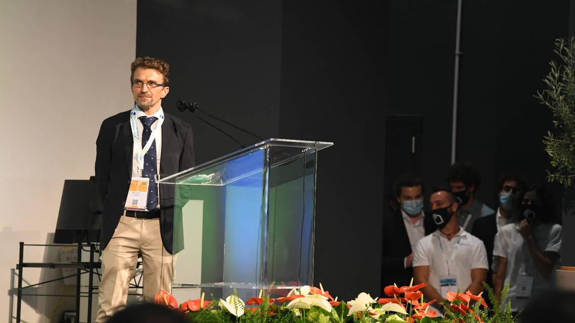 L'intervento del del leader del gruppo di comunicazioni quantistiche dell'Istituto Nazionale di Ottica (Ino) del Cnr di Firenze Alessandro Zavatta (credits: Vittorio Tulli, Cnr)