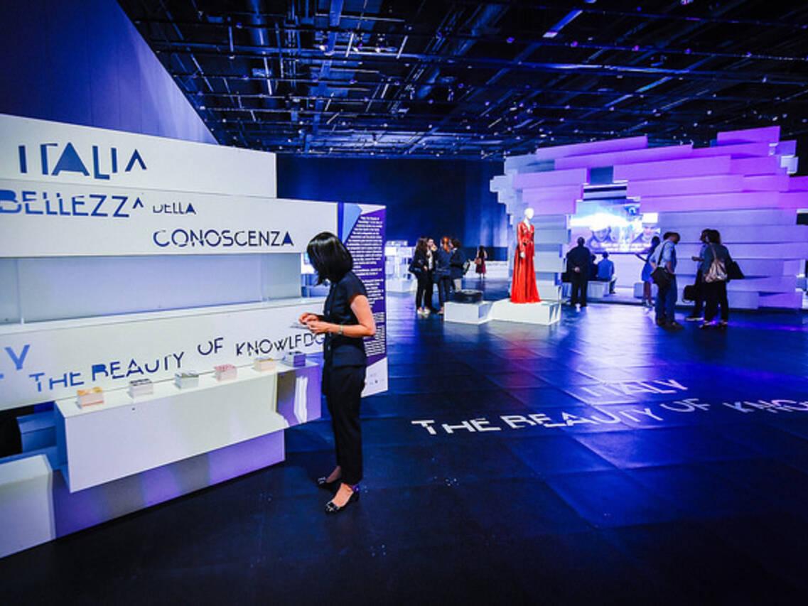 L'allestimento della mostra a Singapore